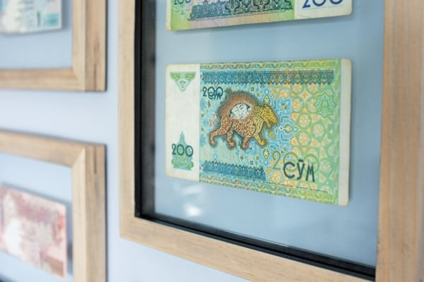 Image of framed currency from school of decorating
