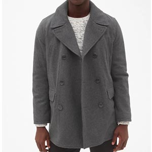 Image of Wool-Blend Peacoat