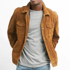 Image of Suede Shirt Jacket