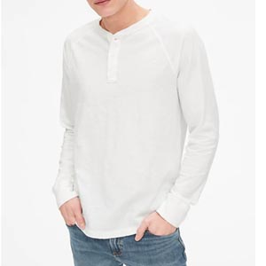 Image of Vintage Slub Long Sleeve Henley
