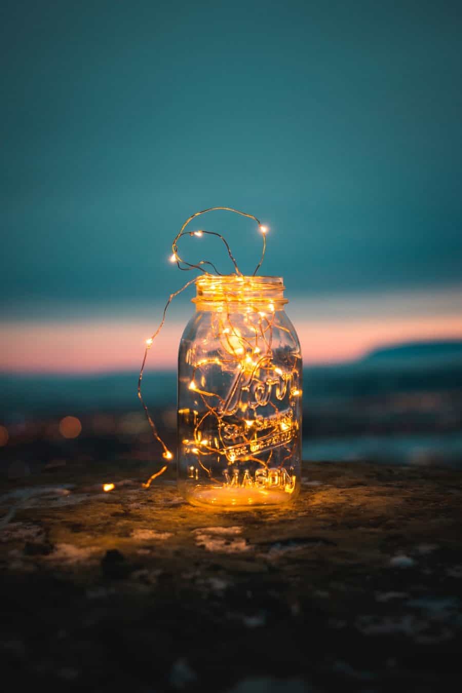 Image of light, fairy lights, jar and glass HD photo by Steve Halama