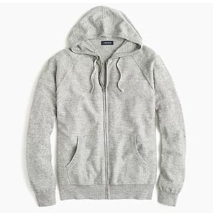 Image of Rugged cotton raglan-sleeved hoodie