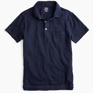 Image of Garment-dyed slub cotton polo