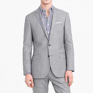 Image of Ludlow Slim-fit suit jacket in Italian stretch worsted wool
