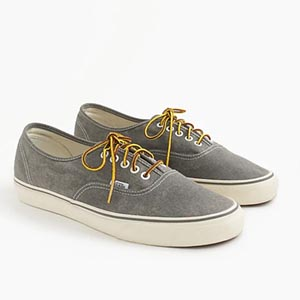 Image of Vans® for J.Crew washed canvas authentic sneakers