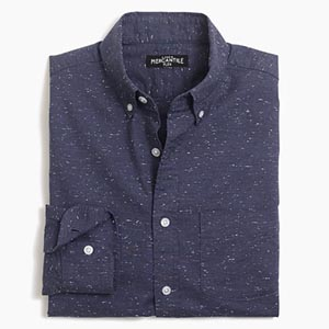 Image of Slim marled-cotton shirt