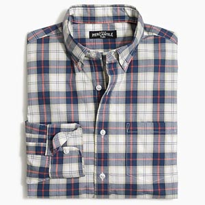 Image of jcrew factory Classic flex washed shirt in plaid