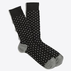 Image of jcrew factory Microspot socks