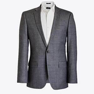 Image of Slim Thompson suit jacket in worsted wool