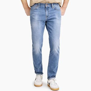 Image of Slim-fit flex jean in light wash