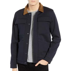 Image of Velour Collar Trucker Jacket