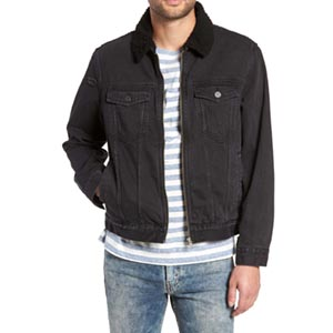 Image of Fleece Lined Denim Jacket