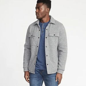 Image of Sweater-Fleece Shirt Jacket for Men