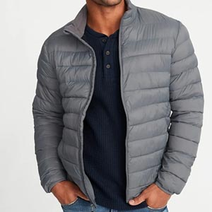 Image of Water-Resistant Packable Quilted Jacket for Men