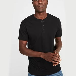 Image of Soft-Washed Jersey Henley for Men