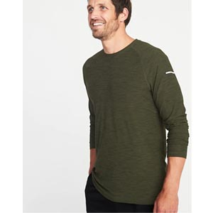 Image of Ultra-Soft Breathe ON Go-Dry Built-In Flex Tee for Men