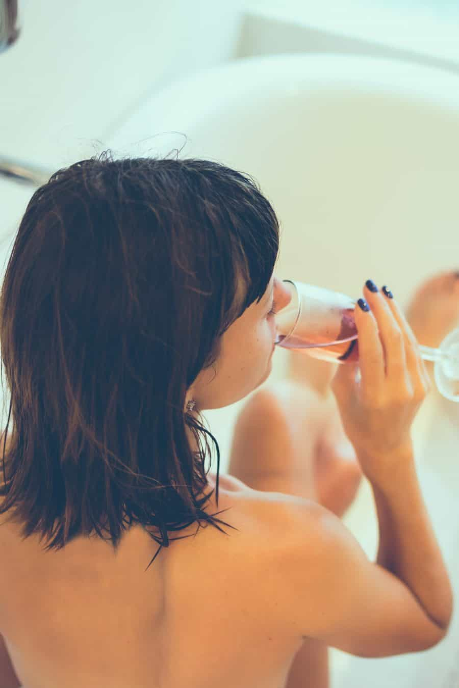 Image of young attractive women with champagne glass photo by Artem Bali