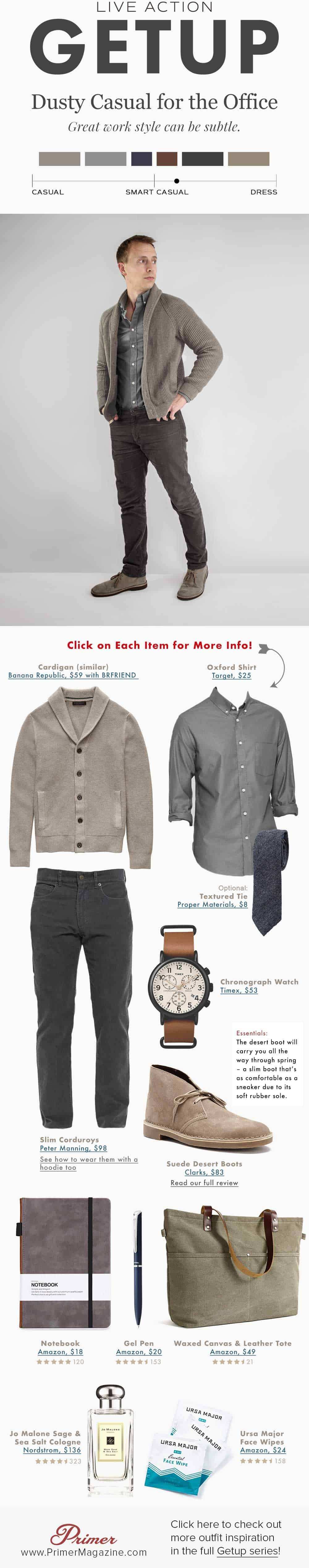men neutral smart casual outfit