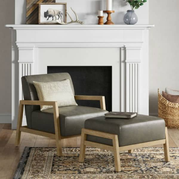 Image of Bedford Rustic Wood Arm Chair - Threshold™ from Target