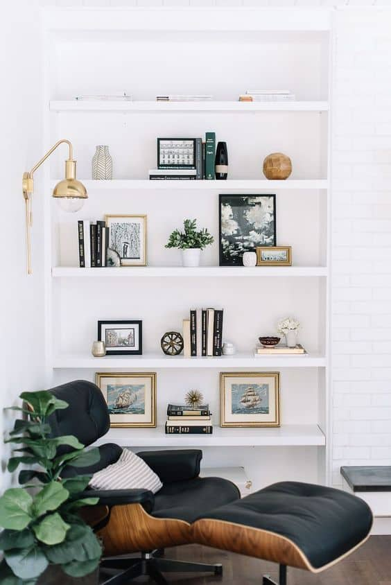 Image of bookshelf and chair from Delight Full
