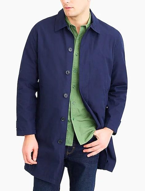 Image of J.Crew Factory Navy trench coat