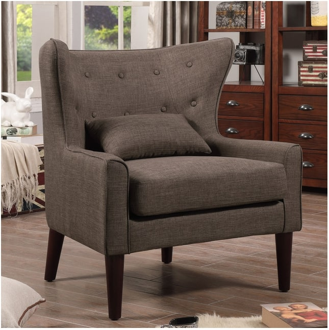 Image of Millett Wingback Chair, Brown