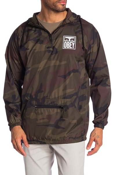 Image of Obey Eyes Graphic Print Camo Jacket