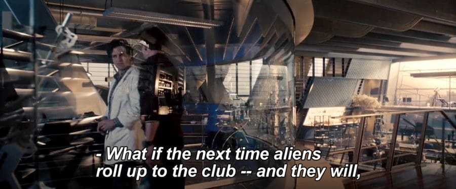 What if the next time aliens roll up to the club and they will