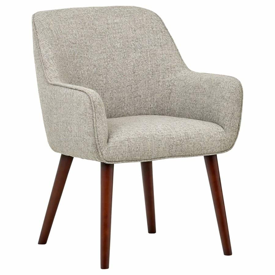 "Image of Rivet Julie Mid Century Swope Accent Dining Chair, 23.6""W, Light Grey"