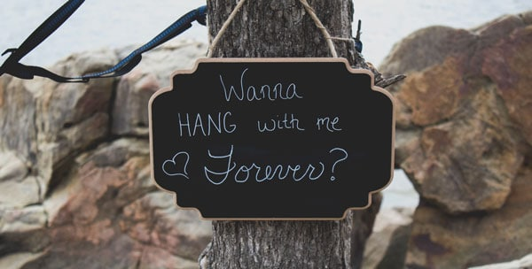 hang forever proposal sign