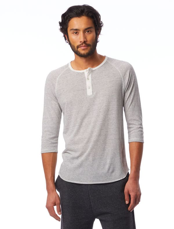 alternative apparel stripe henley