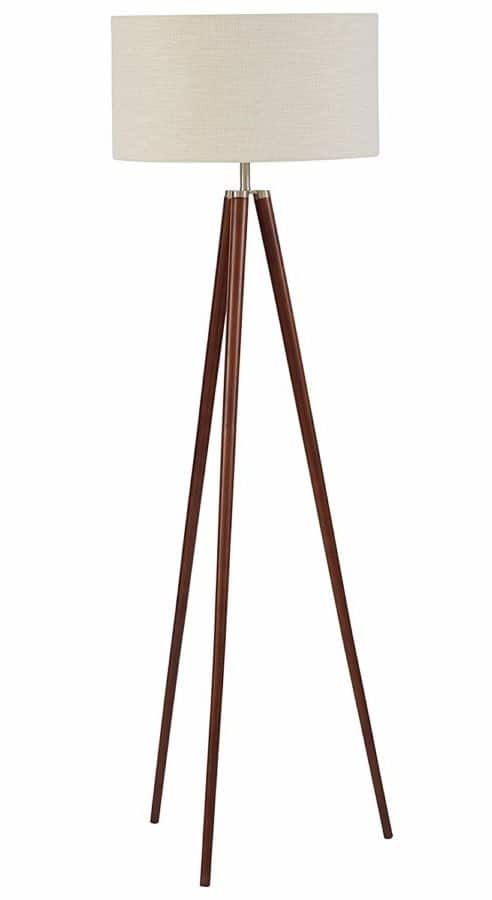 "Image of Stone & Beam Modern Tripod Floor Lamp, With Bulb, Ivory Shade, 19.0"" x 19.0"" x 61.0"", Ivory"