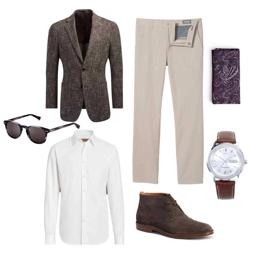 spring work outfit men