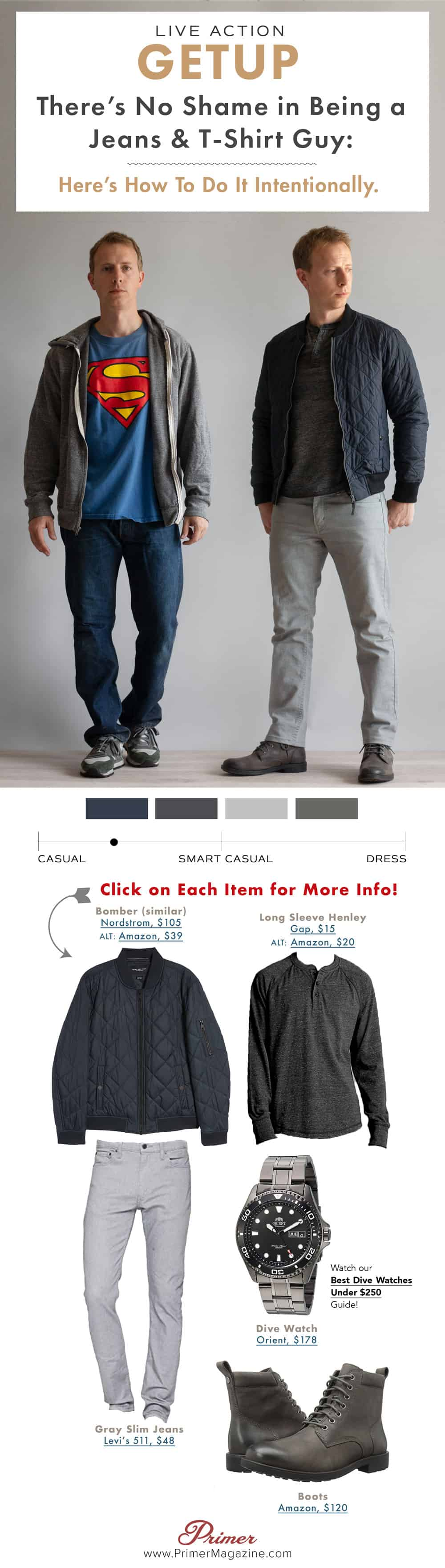 how to dress well with t-shirt and jeans
