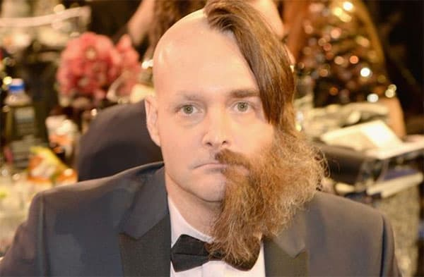 beard half shaved