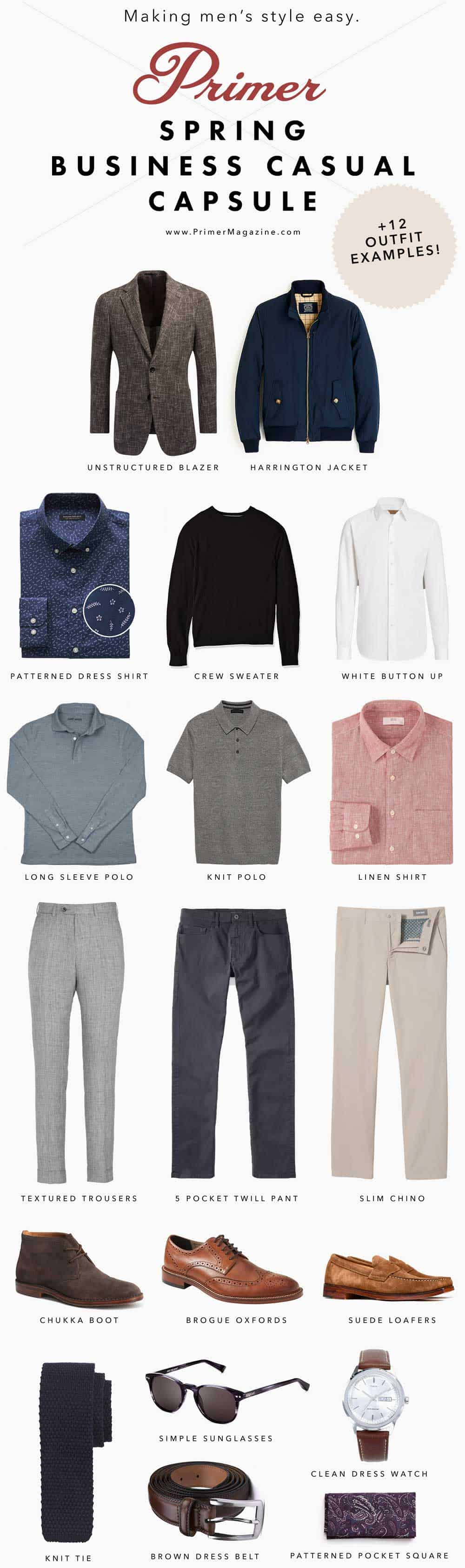 men business casual fashion spring capsule