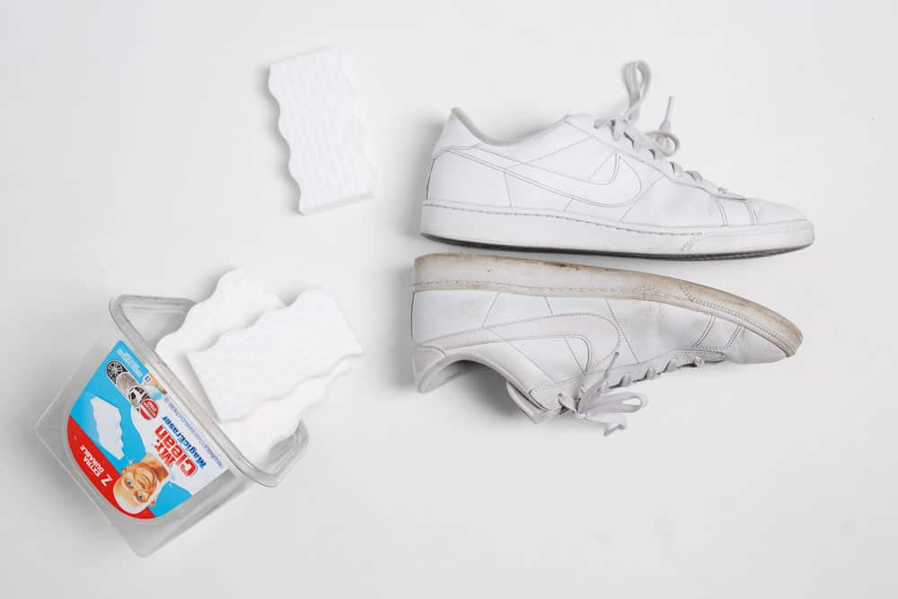 how to clean white sneakers with mr clean magic eraser