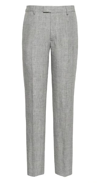 Image of Banana Republic Heritage Slim Tapered Linen Suit Pant
