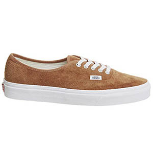 Image of Vans Men's Authentic Suede Leather Trainers, Brown