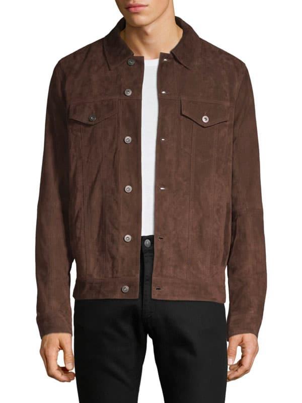 suede trucker jacket men