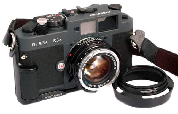 Voigtlander Bessa R3A with 40mm Lens and Side Grip