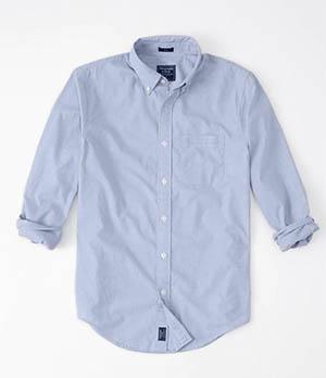 a&f mens poplin shirt