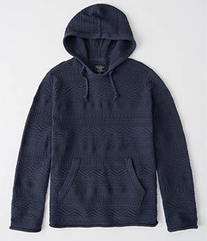 a&f mens geometric hoodie