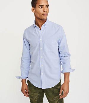 a&f oxford shirt