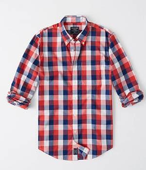 a&f check poplin shirt