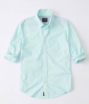 a&f micro gingham poplin shirt