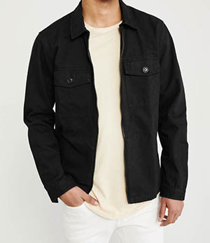 a&f mens zip front shirt jacket