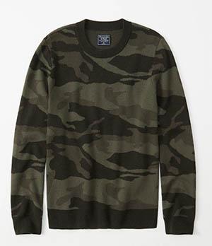 a&f camo pattern sweater