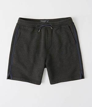 a&f mens knit shorts