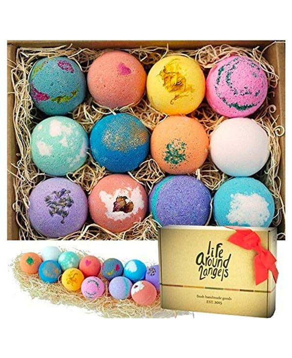A group of colorful bath bombs